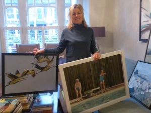 Kate Lowe in her studio
