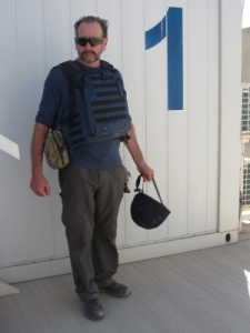Jason Bowyer in Afganistan