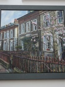 'Railings and Magnolia' by melissa scott-miller
