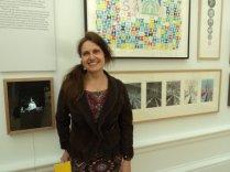 Anne Desmet RA and 'London's Secret Stars' ( lasercut print in light box) and Brooklyn bridge series