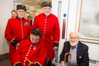 Chelsea Pensioners with John Walton