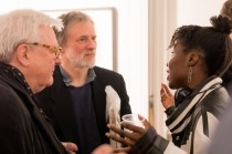 Sir Alan Parker, Philip Gibbs and Valerie Ebuwa